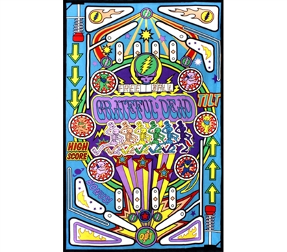 Super Colorful - Pinball Machine Tapestry - Cool For Dorm Walls