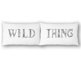 College Pillowcases - Wild Thing (Set of 2) Dorm Bedding Cool Dorm Room Ideas