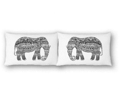 College Pillowcases - Elephants (Set of 2) Cool Dorm Room Ideas