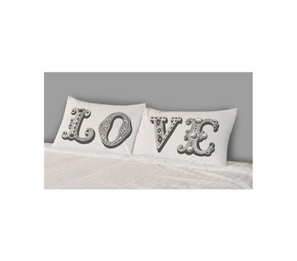 Dorm Room Shopping - College Pillowcases - Love (Set of 2) - Cool Product For College