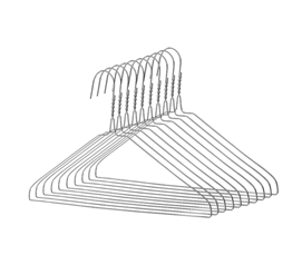 Keep Clothes Off The Floor - Galvanized Steel Hangers - 10 Pack - Keep Closets Organized