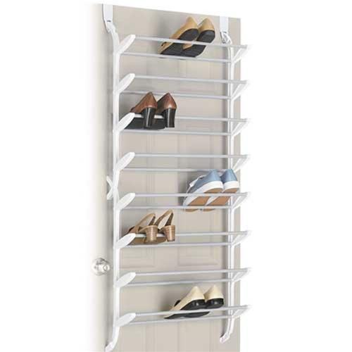 storage closet shoe organizer hanging