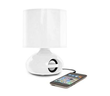 Ihome Mp3 College Speaker Lamp White Listen Music Dorm