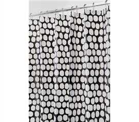 Adds Decor To College Bathroom - Honeycomb Shower Curtain - Black - Great Design