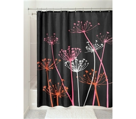 pink and black shower curtain. Great looking Pattern  Thistle Black Shower Curtain Cool Decor Item Curtains Dorm Bathroom Supplies
