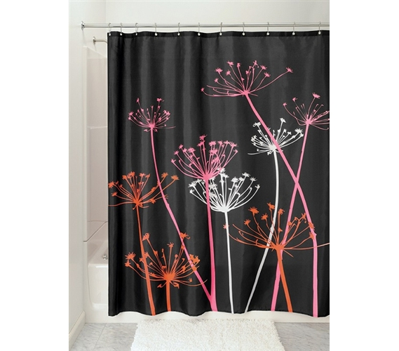 Thistle Black Shower Curtain Cool College Stuff Dorm Room Shopping