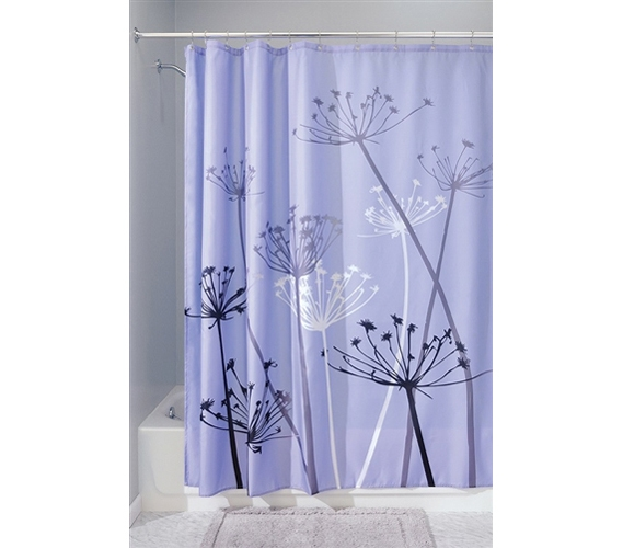 thistle purple shower curtain