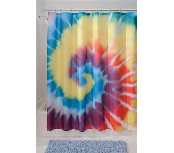 Tie Dye Shower Curtain College Supplies Fun Dorm Room Items