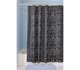 Decorations For Dorms - White Vine Shower Curtain - Supply For College Bathrooms