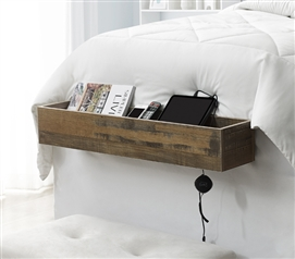Yak About It Dorm Bedside Organizer - Rustic