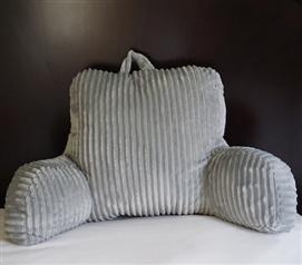 dorm bedrest textured comfort glacier gray
