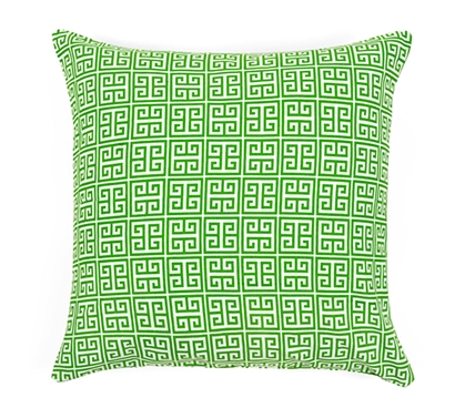 Greek Key Dorm Throw Pillow Cover