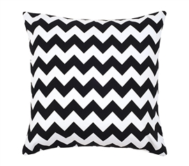 Chevron Black Dorm Throw Pillow Cover