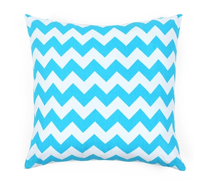 Chevron Blue Dorm Throw Pillow Cover