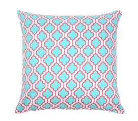 Chelsea Aqua Dorm Throw Pillow Cover