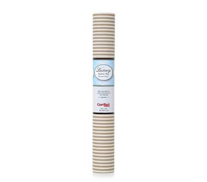Fabric Shelf Liner - Pajama Stripe Tan