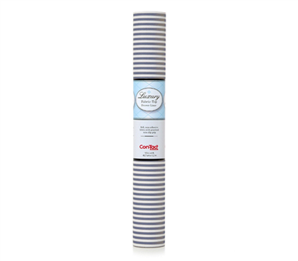 Fabric Shelf Liner - Pajama Stripe Navy