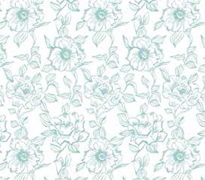 Grip Print Shelf Liner - English Rose Blue