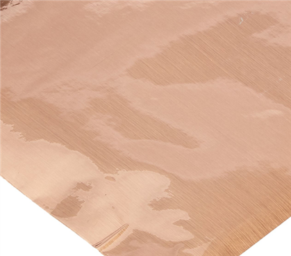 Self Adhesive Shelf Liner - Metallic Brushed Copper