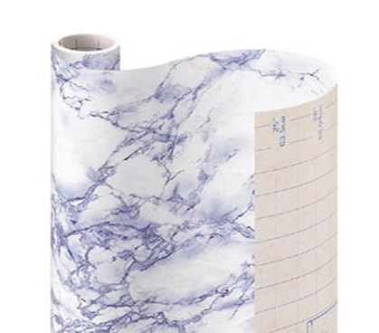 Self-Adhesive Shelf Liner - Blue Marble