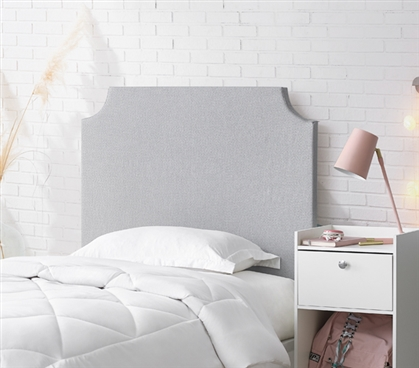Padded Headboard for Dorm Room Twin Extra Long Bedding Essentials Neutral Dorm Decor Ideas