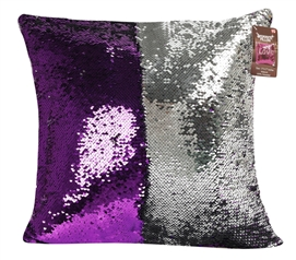 Shimmer Sequin Throw Pillow - Purple