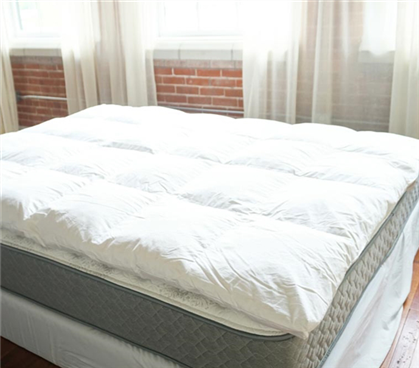 Bafflebox Full Duck Down Featherbed - Oversized Full XL Bedding