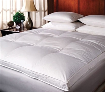 Luxury Down-Top Goose Full Featherbed - Oversized Full XL Bedding