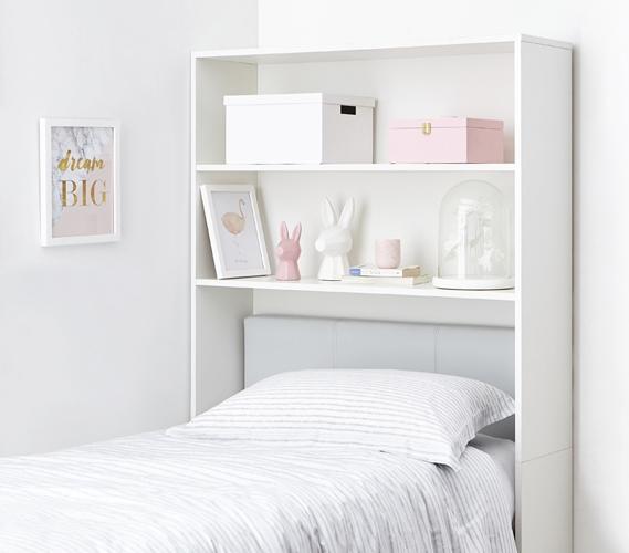 Decorative Dorm Shelf Over Bed Shelving Unit