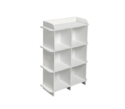 A Dorm Space Saver - Deco Dorm Storage Shelf - 6 Bin