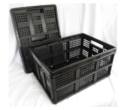 Keep Dorm Organized - Black Collapsible Stack Bins - Useful For College