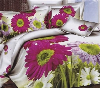 Twin XL Comforter Set - College Ave Dorm Bedding - Beautiful Flowers And Soft Cotton!