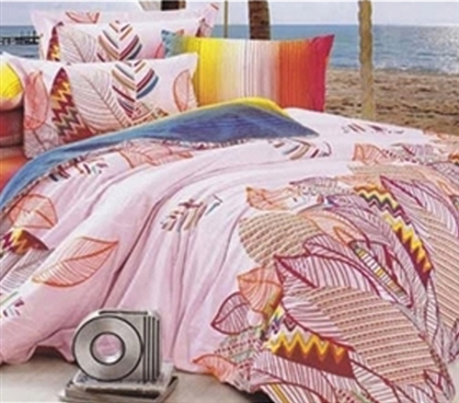 Twin XL Comforter Set - College Ave Dorm Bedding - Colorful Comforter And Sham