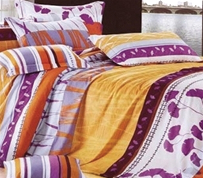 Twin XL Comforter Set - College Ave Dorm Bedding - Super Colorful And Fun