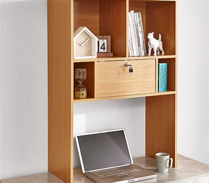 Yak About It Locking Safe Bookshelf - Desktop - Beech