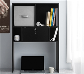 Yak About It Locking Safe Bookshelf - Desktop - Black