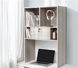 Yak About It Locking Safe Bookshelf - Desktop - Natural