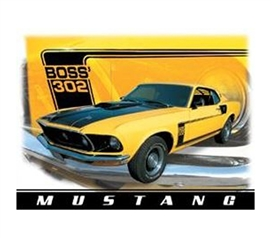 Car Tin Signs For Cheap - Boss Mustang Tin Sign - Great Stuff For College