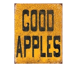 Decorate Your Dorm Room - Good Apples Tin Sign - Dorm Shopping Essentials