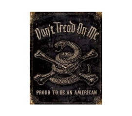 Cheap Tin Signs - Don't Tread On Me Tin Sign - Cool Dorm Decor Supplies