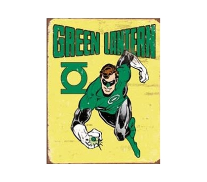 Buy Dorm Room Products - The Green Lantern Tin Sign - Fun Stuff For College