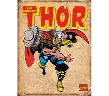 Retro Tin Signs - Thor Tin Sign - Buy Supplies For College