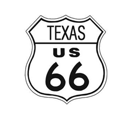 Buy College Tin Signs - Route 66 Texas Tin Sign - Decor For Dorms