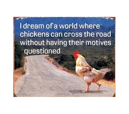 Buy Dorm Products - Chicken Cross The Road Tin Sign - Shop For College Students