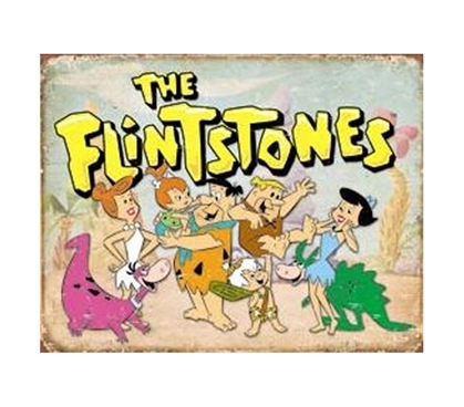 Buy Stuff For Dorms - The Flintstones Tin Sign - Shopping For College