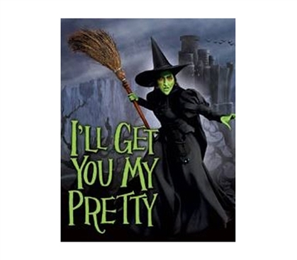 Fun Dorm Items - My Pretty Witch Tin Sign - College Must-Haves
