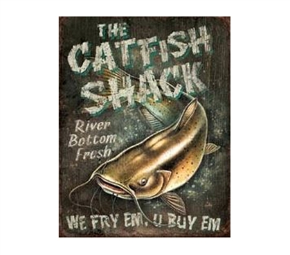 Buy Dorm Supplies - Catfish Shack Tin Sign - Decorations For College
