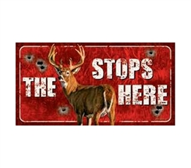 Tin Signs For College - Stops Here Tin Sign - Decorate Your Dorm Room