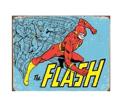 Decor For Dorms - The Flash Tin Sign - Best Supplies For College