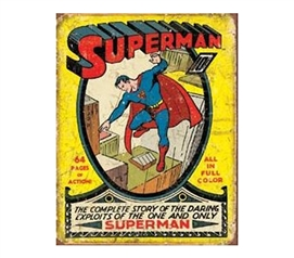 Essentials For Dorm Rooms - Superman Soar Tin Sign - Best Items For College